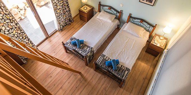 Chambres en deux